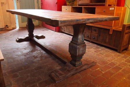 Teak monastery table 'Paint'
