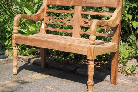 Teak station gardenbench 2-seater