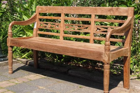 Teak station gardenbench 3-seater