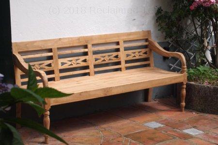 Teak station gardenbench 4-seater