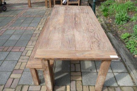 Teak table 220 x 100 cm reclaimed