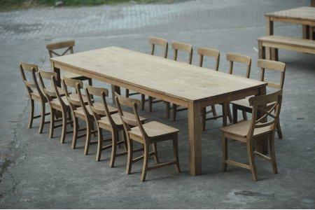Teak table 300 x 100 cm