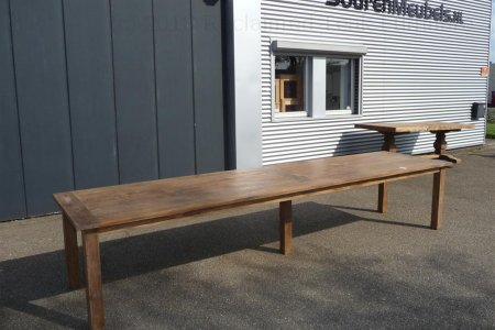 Teak table 400 x 100 cm reclaimed