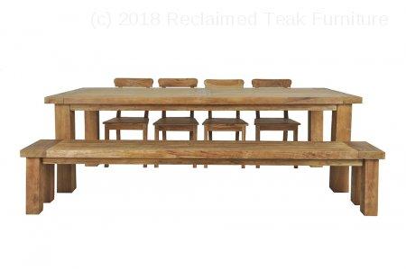 Teak table London 250 x 100 cm