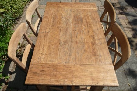 Teak table 120 x 80 cm  reclaimed