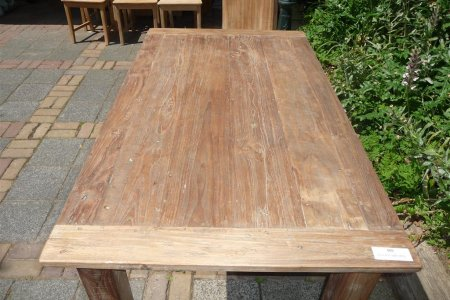Teak table 140 x 90 cm reclaimed