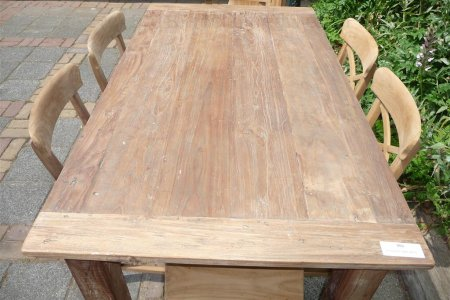 Teak table 160 x 90 cm reclaimed