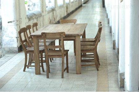Teak table 200 x 100 cm reclaimed