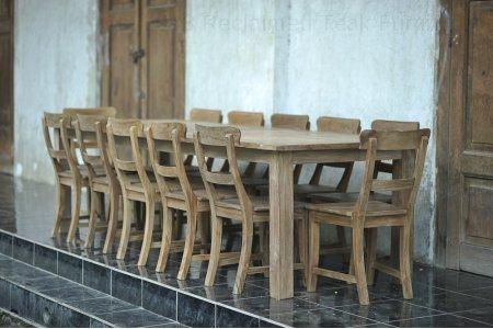 Teak table 300 x 100 cm reclaimed