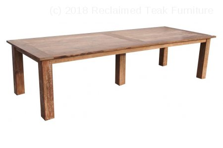Teak table 320 x 120 cm reclaimed