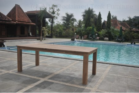 Teak garden table 200 x 100 cm