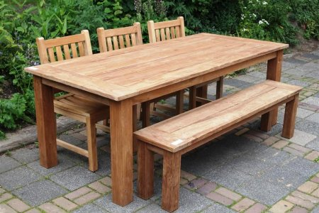 Teak garden table 220 x 100 cm