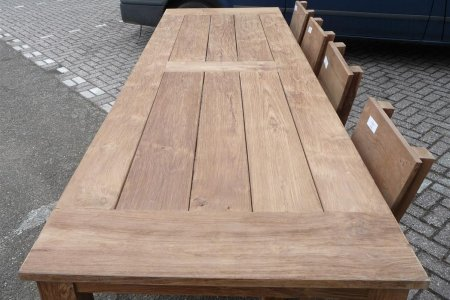 Teak garden table 300 x 100 cm