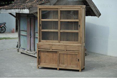 Teak display cabinet 160cm modern