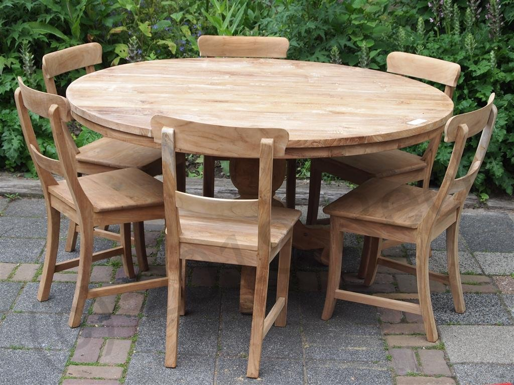Round Teak Table Ø 150 Cm   Picture 3