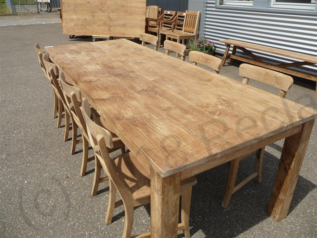 Teak Table 260 X 100 Cm Reclaimed Teak Furniture