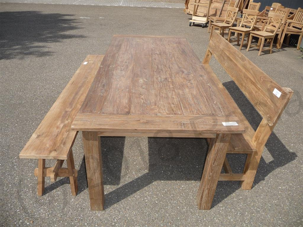 Good Teak Table 240 X 100 Cm Reclaimed