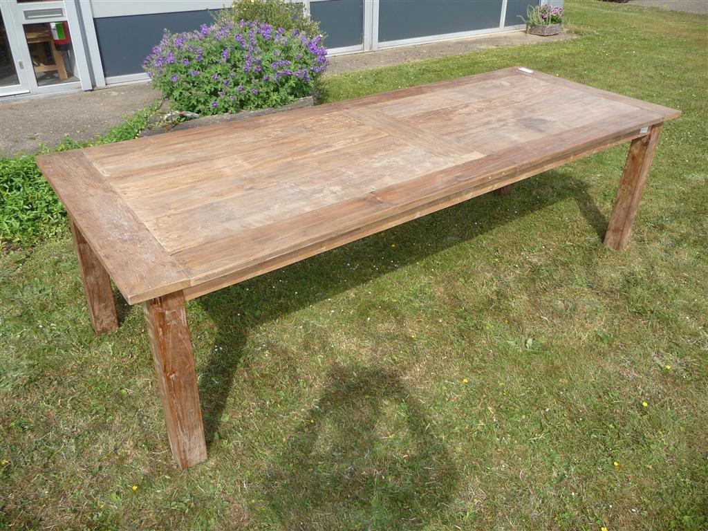teak table 260 x 100 cm reclaimed reclaimed teak furniture. Black Bedroom Furniture Sets. Home Design Ideas