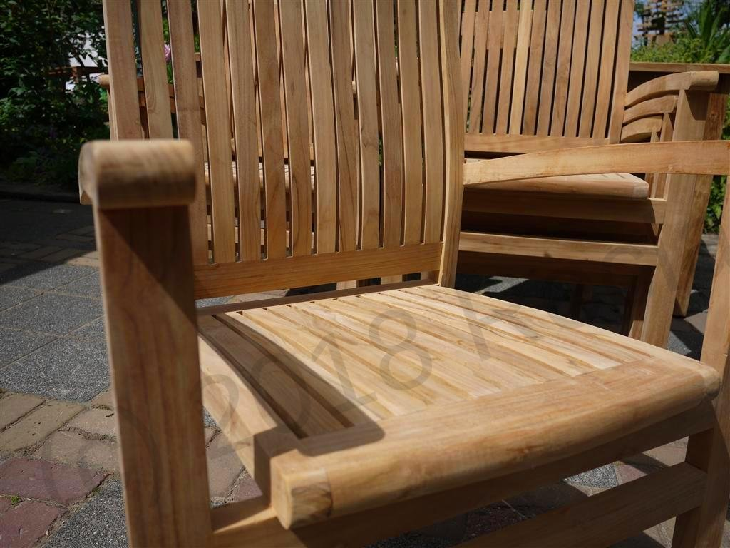 Teak garden chair stacking | Reclaimed Teak Furniture