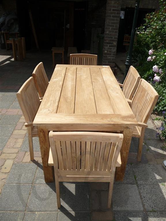 Teak Garden Table 180 X 90 Cm Reclaimed Teak Furniture