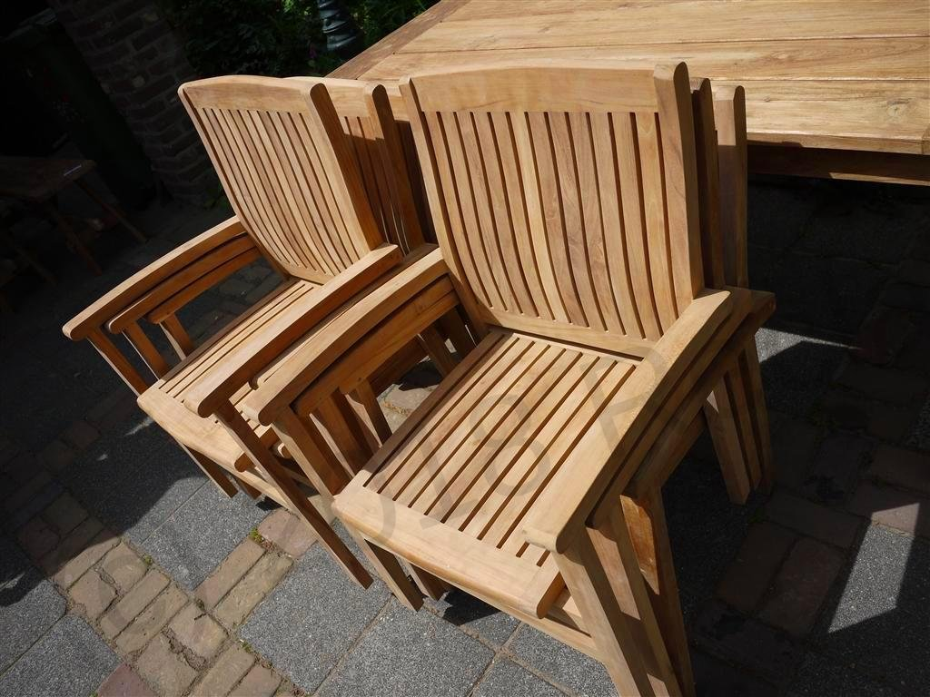 Teak garden chair stacking | Reclaimed Teak Furniture