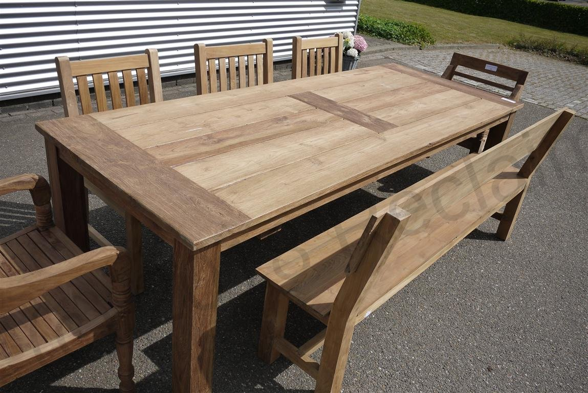 Teak garden table 260 x 100 cm | Reclaimed Teak Furniture