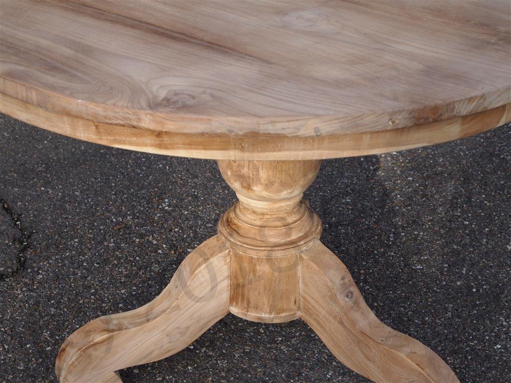 round teak table 110 cm reclaimed teak furniture. Black Bedroom Furniture Sets. Home Design Ideas
