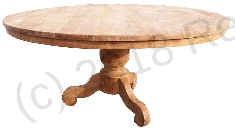Round teak table Ø 160 cm | Reclaimed Teak Furniture