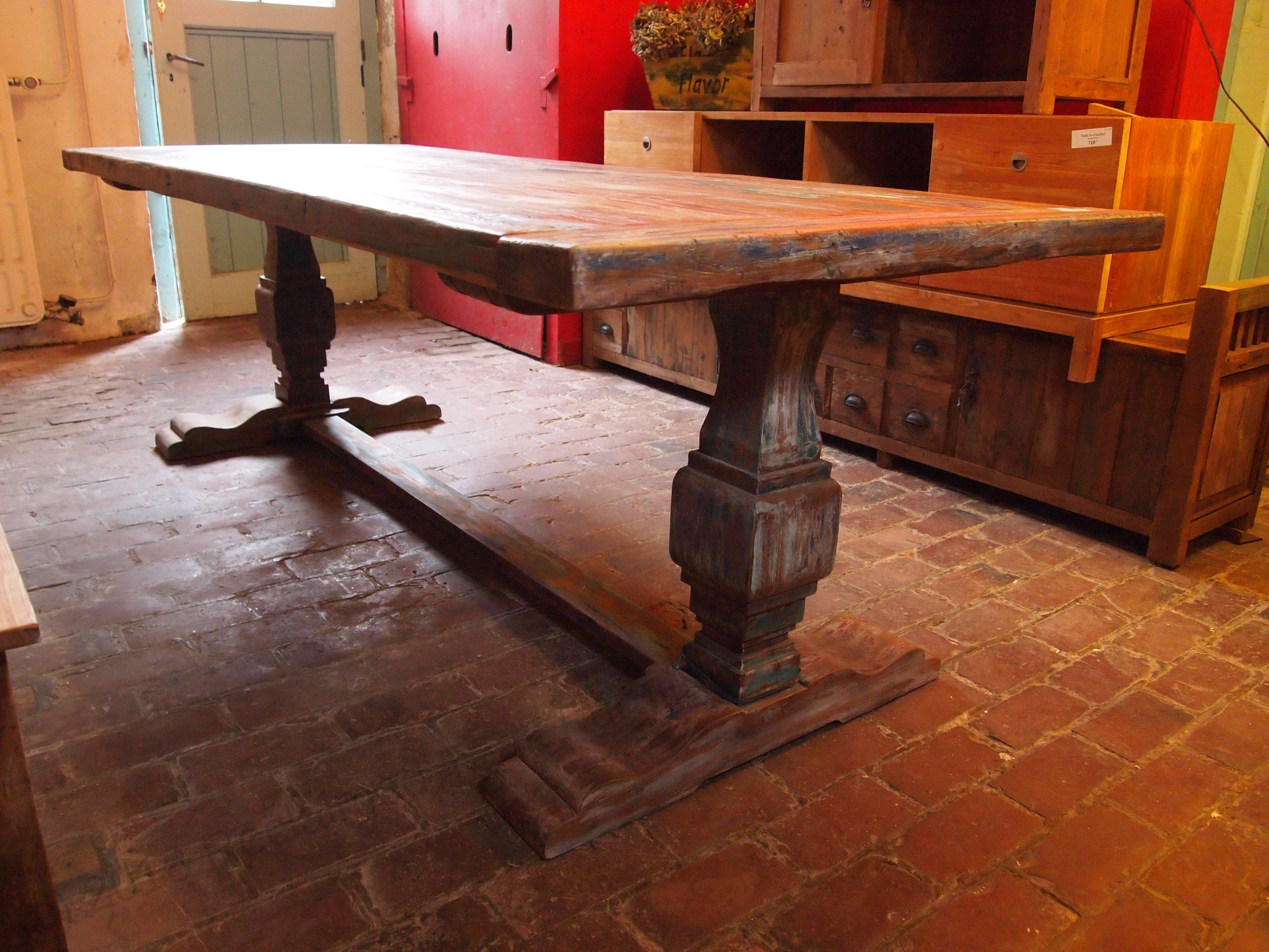 Teak Monastery Table Paint Reclaimed Teak Furniture