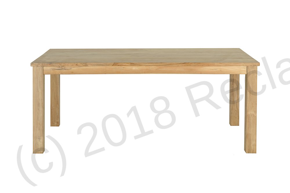 teak table 200 x 100 cm reclaimed teak furniture. Black Bedroom Furniture Sets. Home Design Ideas
