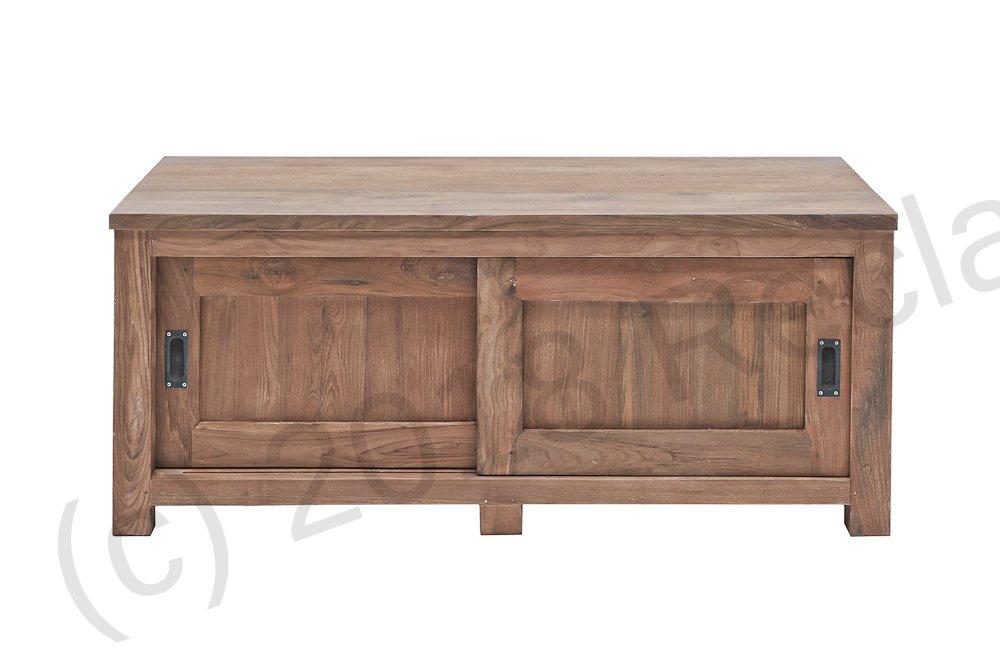 Teak Tv Unit 120 X 50 X 50 Cm Reclaimed Teak Furniture