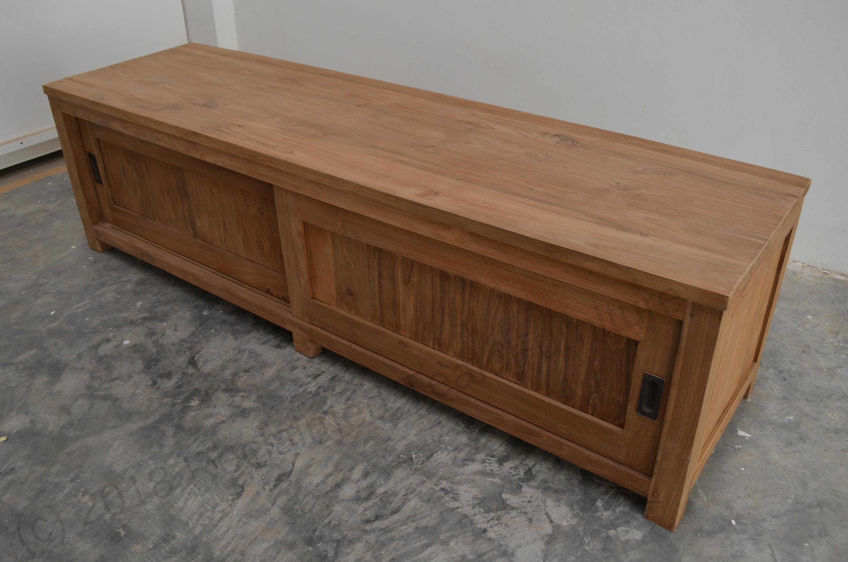 teak tv unit 180 x 50 x 50 cm reclaimed teak furniture. Black Bedroom Furniture Sets. Home Design Ideas