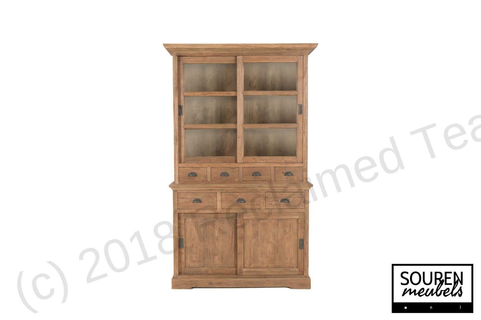 Teak display cabinet 130 dingklik   Reclaimed Teak Furniture